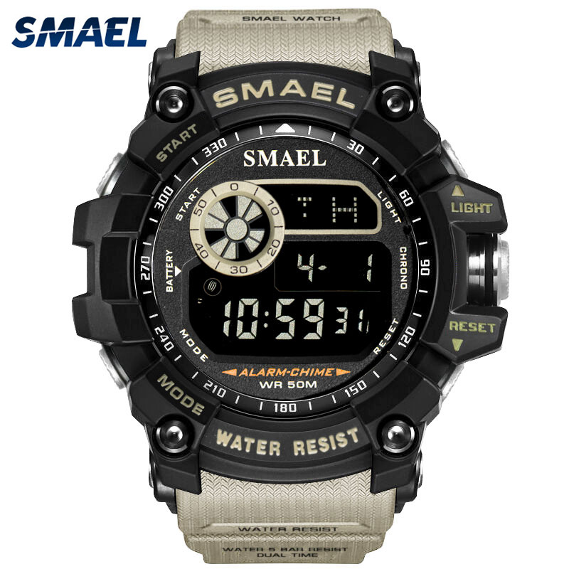 smael sport watch waterproof digital led military auto. Black Bedroom Furniture Sets. Home Design Ideas