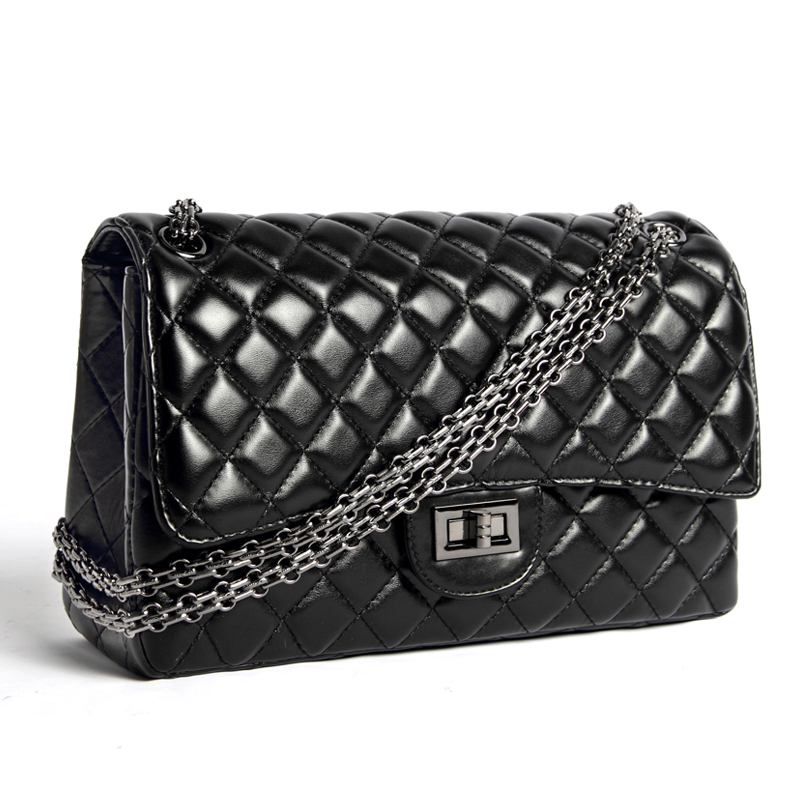 ФОТО High Grade Fashion Brand designer Real Sheepskin handbags Classic Flap Chain shoulder bags Elegant women messenger bags