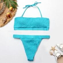 Rhyme женский эротичный бикини женский однотонный купальник пуш-ап на подкладке; бразильский пляжный бикини купальник женский купальный костюм