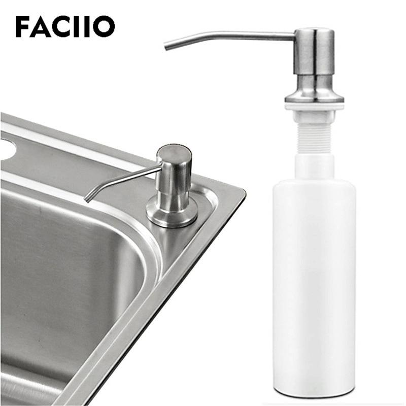 US $8.57 35% OFF|FACIIO Bathroom Soap Dispenser Plastic Liquid Hand Soap  Dispensers Kitchen Sink Soap Bottle Hand Wash Bottles Accessories YD 107-in  ...
