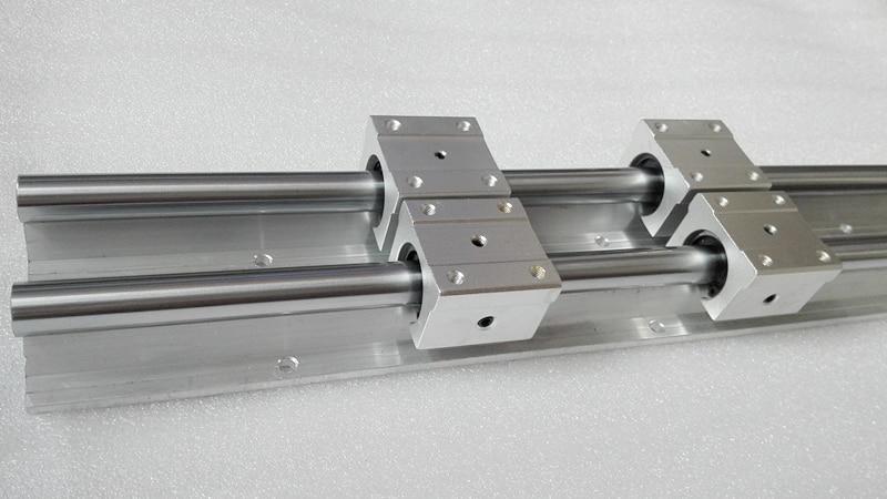 ФОТО 12mm linear rail 2pcs SBR12 700mm supporter rails + 4pcs SBR12UU blocks for CNC linear shaft support rails and bearing blocks