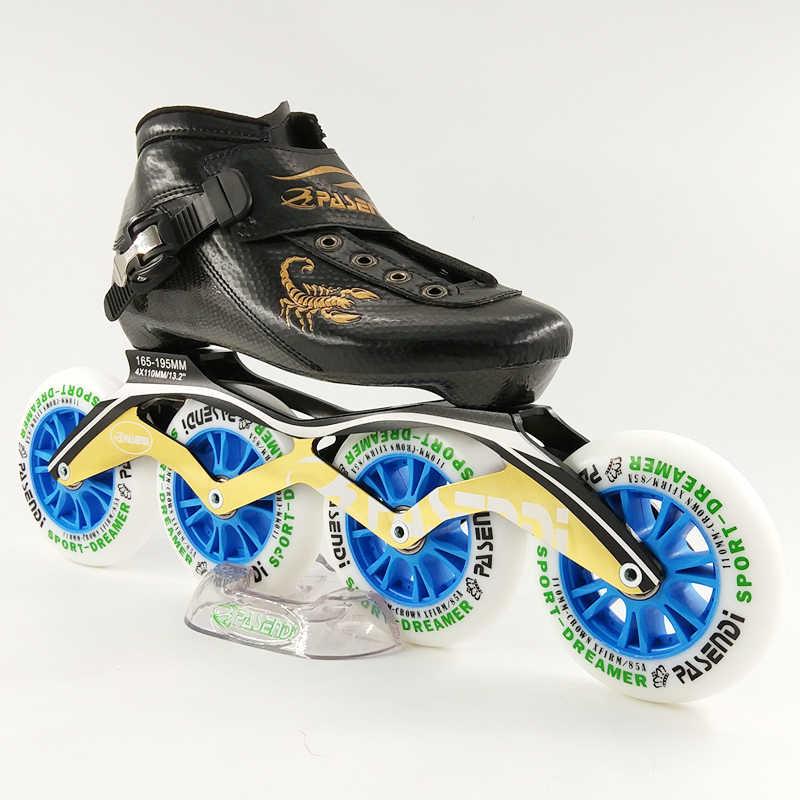 pasendi Carbon professional speed skating shoes women/men inline skates racing shoes adult child skating patines soy luna