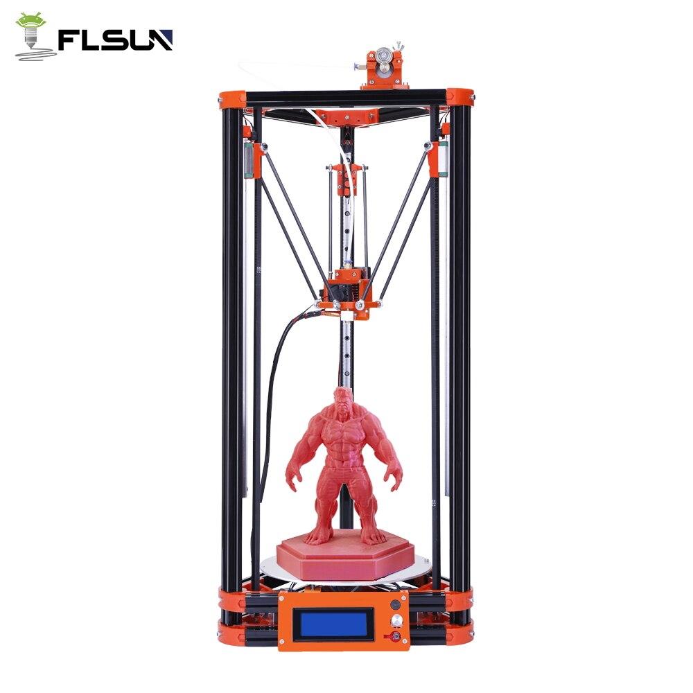 2019 Flsun Kossel Delta 3D Imprimante Poulie Version Linéaire Guide Grande Zone D'impression 240*240*285mm Chauffée lit Puissance