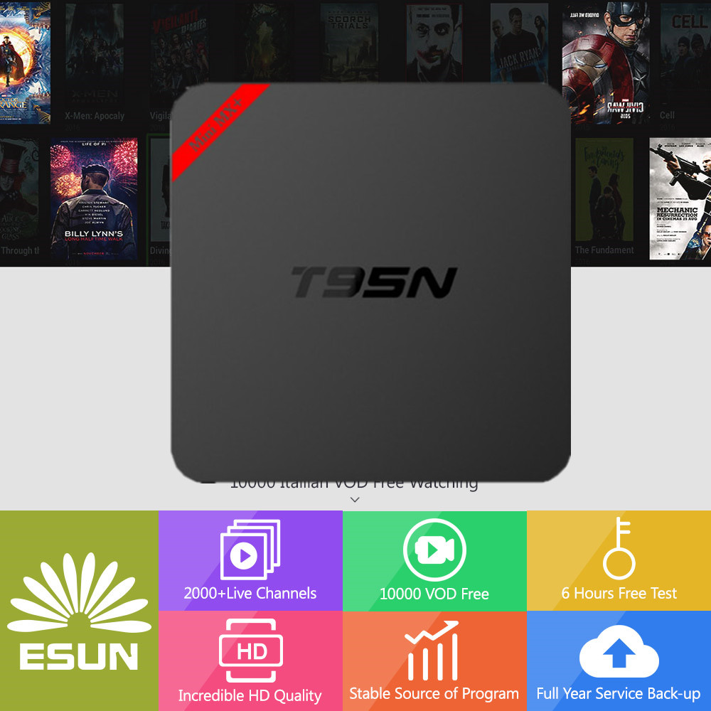 2018 IPTV Box Android T95N 6.0 TV Box With1 Year ITALYTV Spain/French/Germany Albania/Italy/Portugal/EX-YU/Europe/xx VOD Set 2000 italy tv kb2 android tv box 2gb 32gb amlogic s912 spain uk europe italyvod portugal ex yu albania xxx set top box