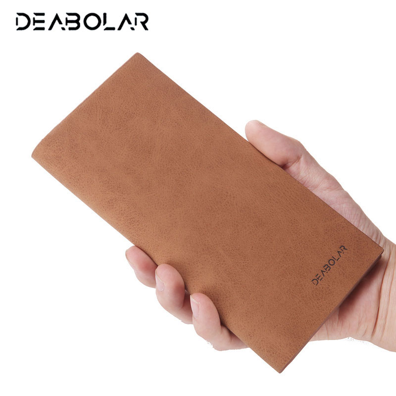 2017 Vintage Soft Thin Men Wallet Big Capacity Fashion Brand Male Wallets Purses with Card Holder for Men Gift Free Shipping designer men wallets famous brand men long wallet clutch male money purses wrist strap wallet big capacity phone bag card holder