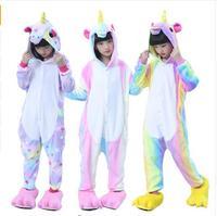 2017 Unisex Rainbow Unicorn Onesie Anime Kigurumi Stitch Animal Cute Cartoon Cosplay Costumes Warm Sleepwear For