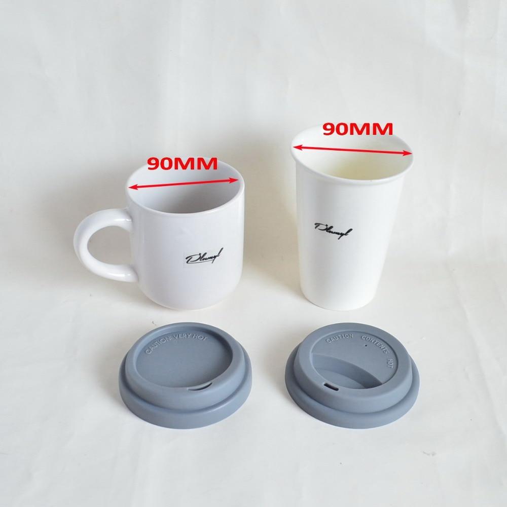 Ev ve Bahçe'ten Su Şişesi ve Bardak Aksesuarları'de 20 adet/grup kupalar kapaklı seramik fincan kahve kupa, FDA kahve kupası kapakları su bardağı için, silikon Yeniden Kullanılabilir bardak kapakları, silikon Dayanıklı kapak'da  Grup 3