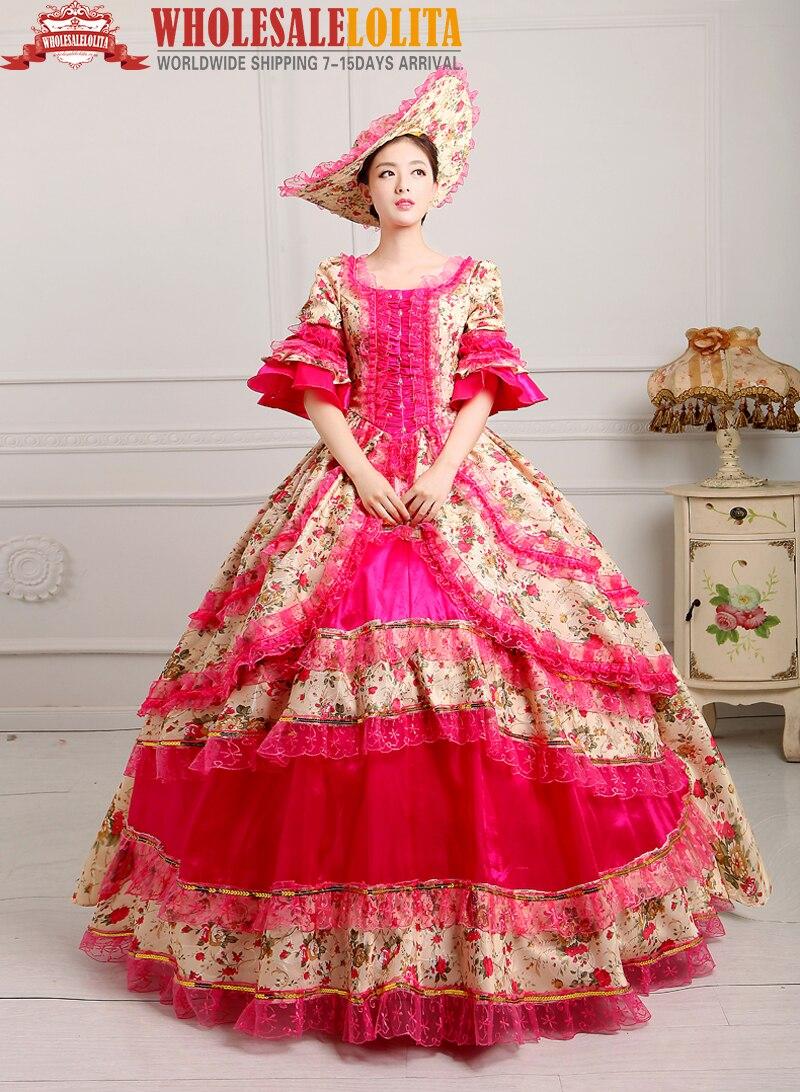 CALIENTE!! Global FreeShipping Vestido de Belle mujeres Del Siglo ...
