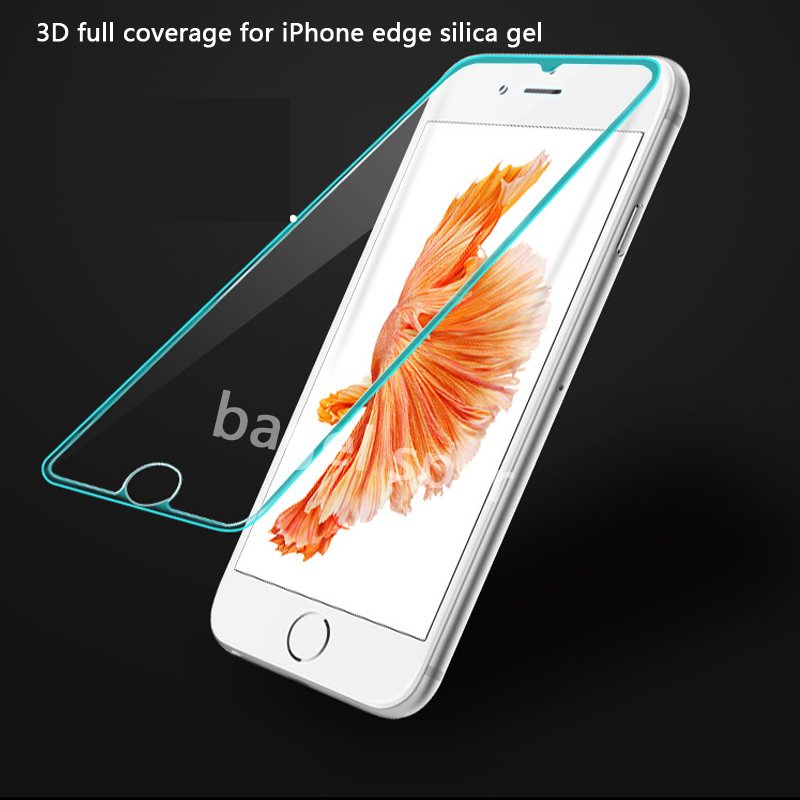 plus 3D full coverage for iPhone 6plus tempered glass for iphone 7plus Screen Protectors 8plus edge silica gel glass flim in Phone Screen Protectors from Cellphones Telecommunications