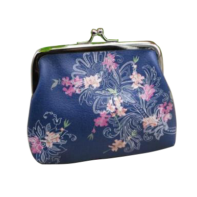 10pcs( ASDS Womens Mini Leather Printed Wallet Cute Card Holder Coin Purse Clutch Handbag Flower