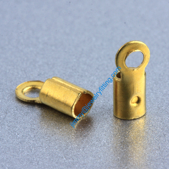 2013 jewelry findings Base metal foldover crimps for cord Chain  end cord clasps