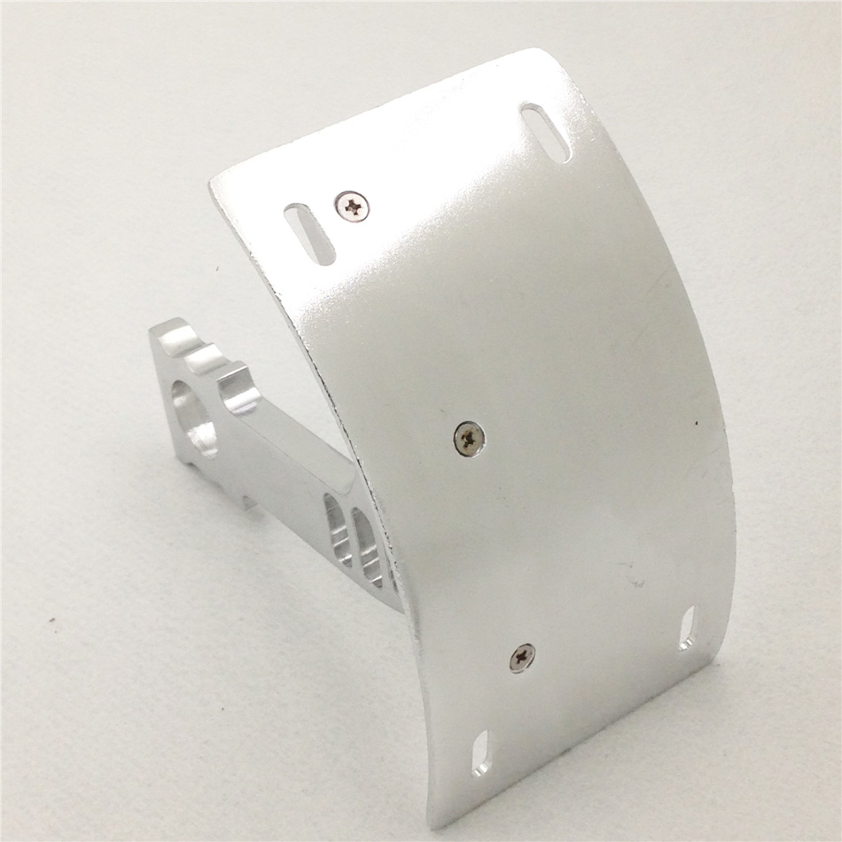 Aftermarket free shipping motorcycle parts Curved side License Plate Tag Holder Bracket for Hond CBR 600RR 1000RR SILVER