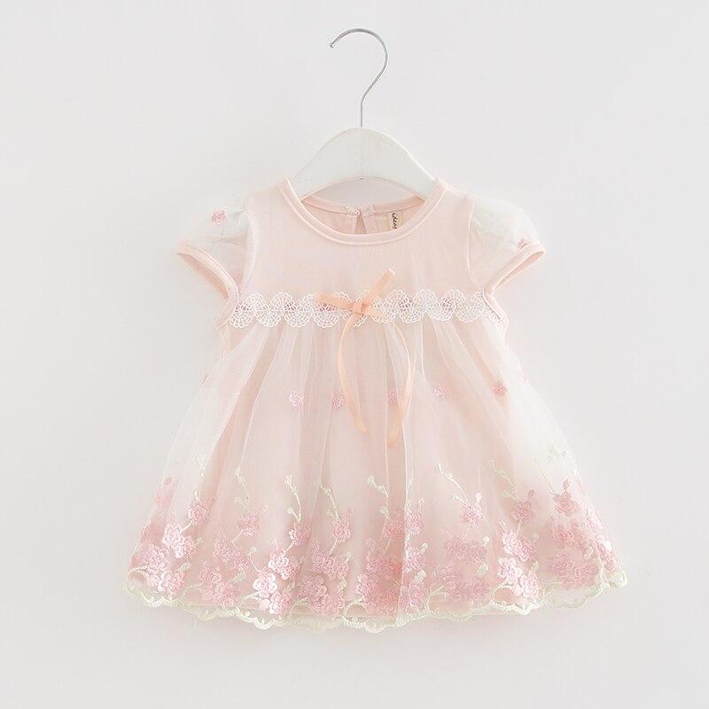 Baby Girls Dress 2020 New Short Sleeve Newborn Dresses for Baby Girls Summer Birthday Party Dress Baby Clothing 0-2T