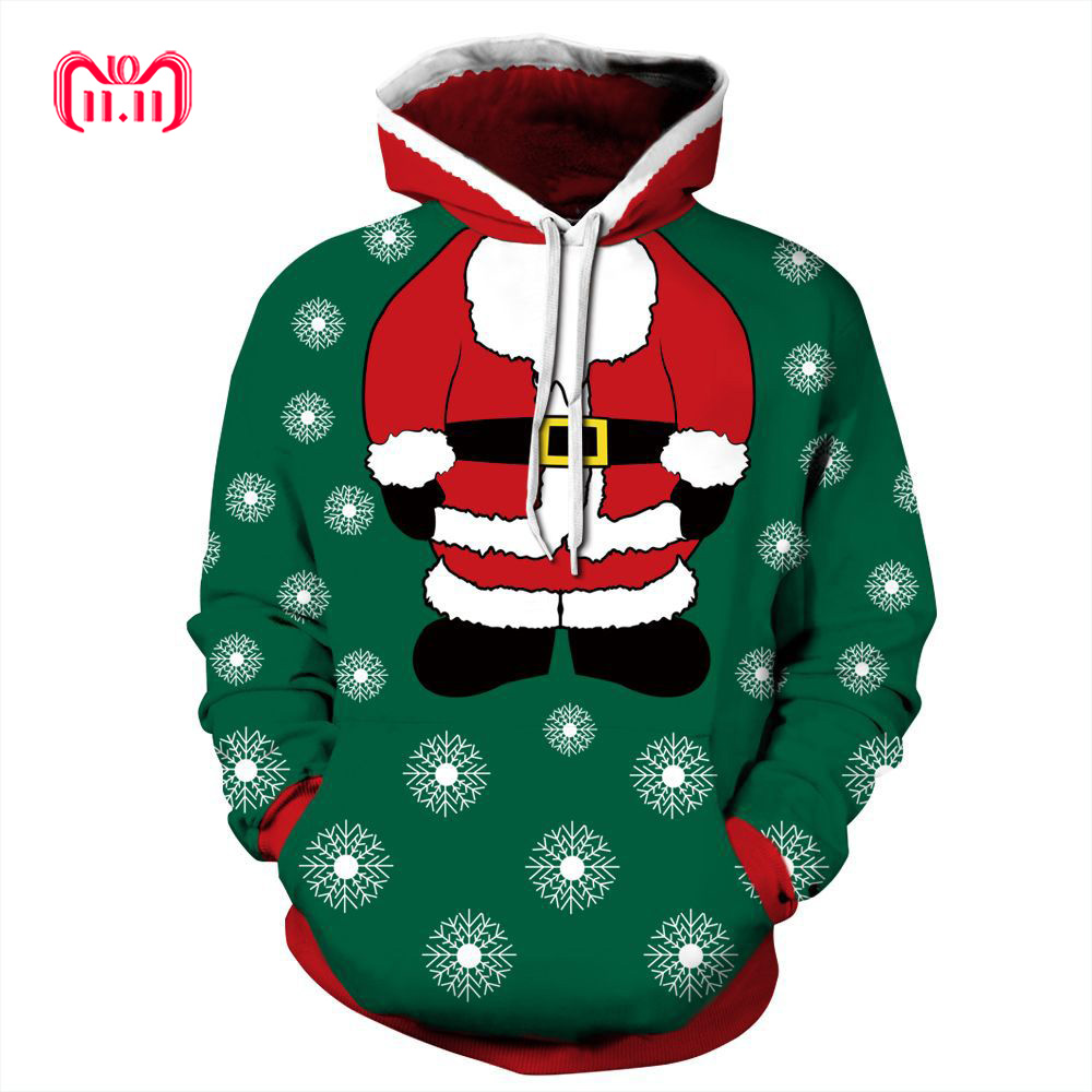 Naughty Humor Christmas Merry Christmas Mens Plus Velvet Padded Hoodie