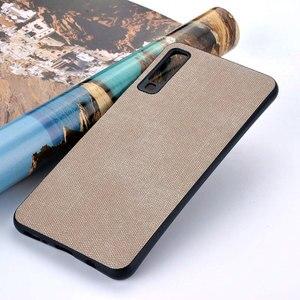 Image 3 - Case for Samsung Galaxy A5 A6 A7 A8 A9 A10 A30 A50 M30 M20 M10 Star 2017 2018 coque case Luxury Fabric Cloth Leather cover funda
