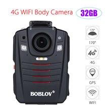 BOBLOV HD66-07 32 GB/64 GB 4G WIFI A12-A2 Junto Ao Corpo Da Câmera GPS HD 1296 P Ambarella Chip 170 Graus Câmera Filmadora de Bolso Polícia
