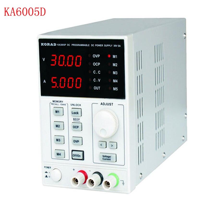 60 в, 5A DC Линейный питание точность переменной Регулируемый Цифровой Регулируемый Lab класс KA6005D