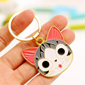 2017 Fashion Animal Women Key Chain Key Ring Lovers' Key Holder For Girl Bear Cat Cartoon Keychain Couple Keyring