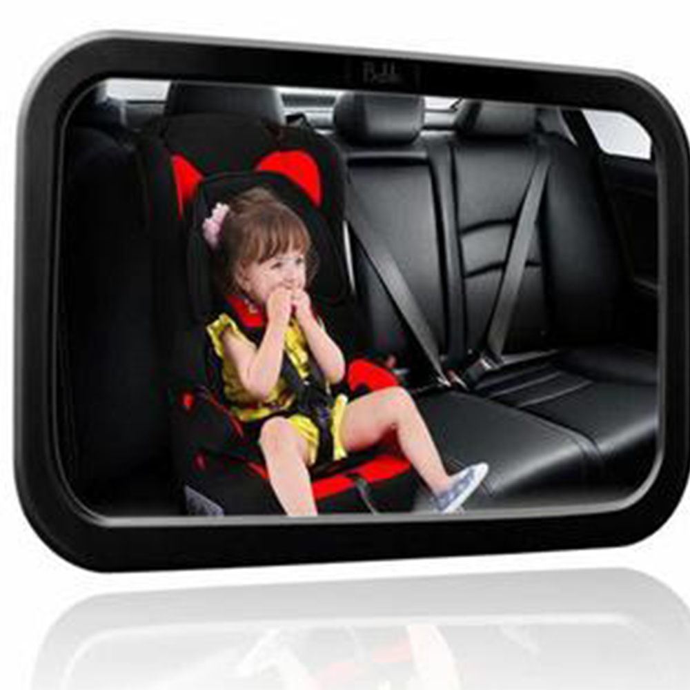 HLEST Baby rearview mirror Large Wide Easy View Rear Baby Child Back Seat Car Safety Mirror Headrest Mount XNC