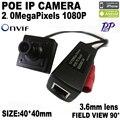 POE HD 1920x1080 P 2.0MP Cámara Ip Mini Tipo Metal de La Cámara de seguridad ONVIF P2P IP de seguridad Cctv Cam Envío Gratis
