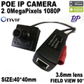 POE HD 1920x1080 P 2.0MP IP Indoor Camera Mini Tipo Câmera ONVIF P2P IP Cam CCTV Sistema de segurança De Metal Frete Grátis