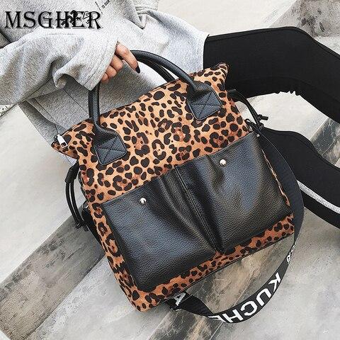 Cópia do Leopardo Bolsas de Moda Msgher Grande Capacidade Bolsas Grandes Mulheres da Ombro Bolsas Crossbody Bolsa Feminina Mulheres Bolsa Wb1405