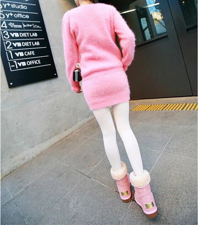 100 Grey Véritable Factory Jupe Dfp865 Avec Personnalisé 2018 Cachemire Réel Pulls Chandails Costumes Vison Robe Outlet pink dYwgxRZn