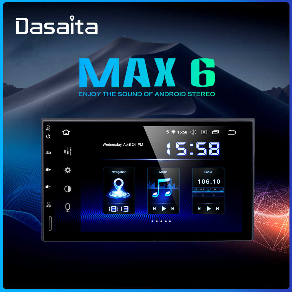 "Dasaita 7 ""วิทยุ 2DIN DSP Android 9.0 Car Multimedia Player 4GB RAM 64GB ROM HDMI"