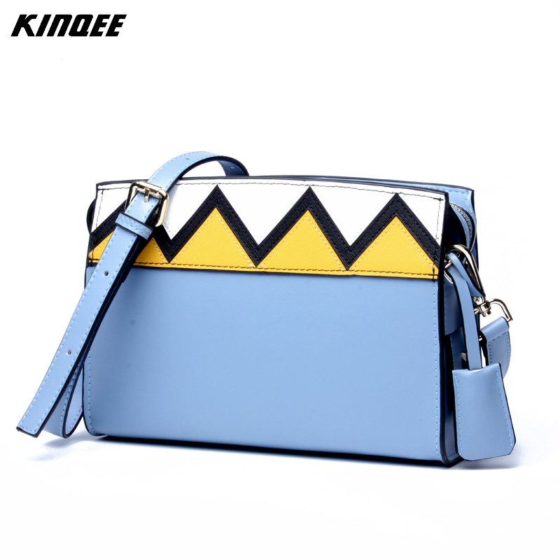 Genuine Leather Luxury Handbags Women Bags Designer Sawtooth Pandelled Purses and Handbags High Quality Messenger Flap