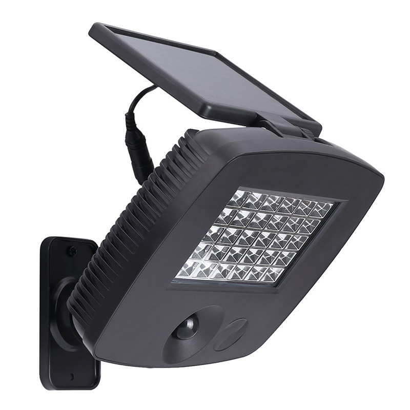 Outdoor Solar Security Light LED Motion Sensor Flood Wall Spotlight for Power PIR Garden light