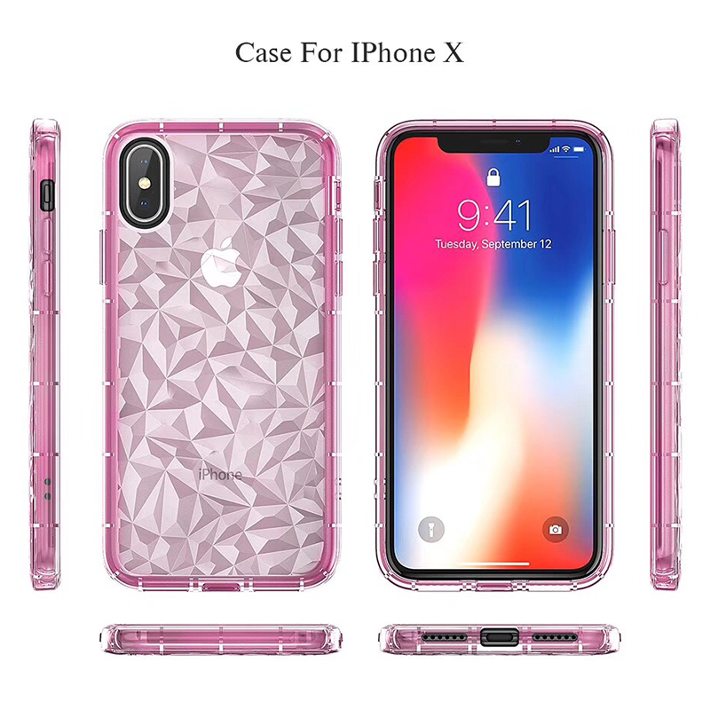 3D Diamond Pattern Phone Case For iPhone X Luxury Ultra Thin Soft TPU Cases For iPhone 7 8 6 6s Plus 5 5 S SE Shining Cover Capa (10)