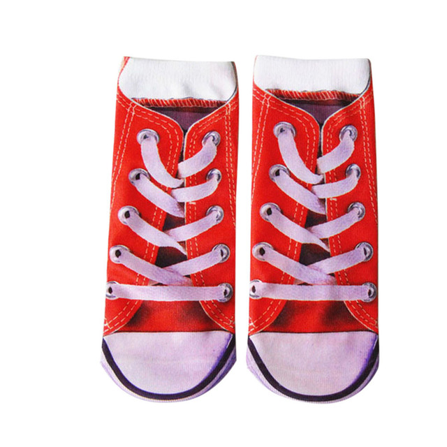 e47e30bf8f2 desire 35  New Creative Explosion Fashion Hot Sale Man s Womens 3D Printed  Funny Crazy Novelty Low Cut Ped Cute Athletic Socks