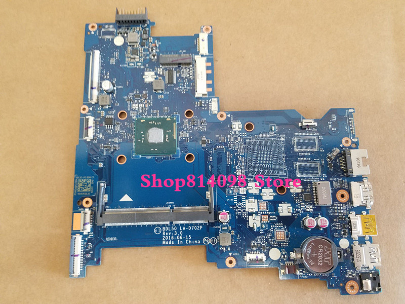 854949-601 BDL50 LA-D702P for HP NOTEBOOK 15-AY series Motherboard.All functions fully Tested! free shipping 854949 601 bdl50 la d702p for hp notebook 15 ay series motherboard with n3160 cpu all functions 100