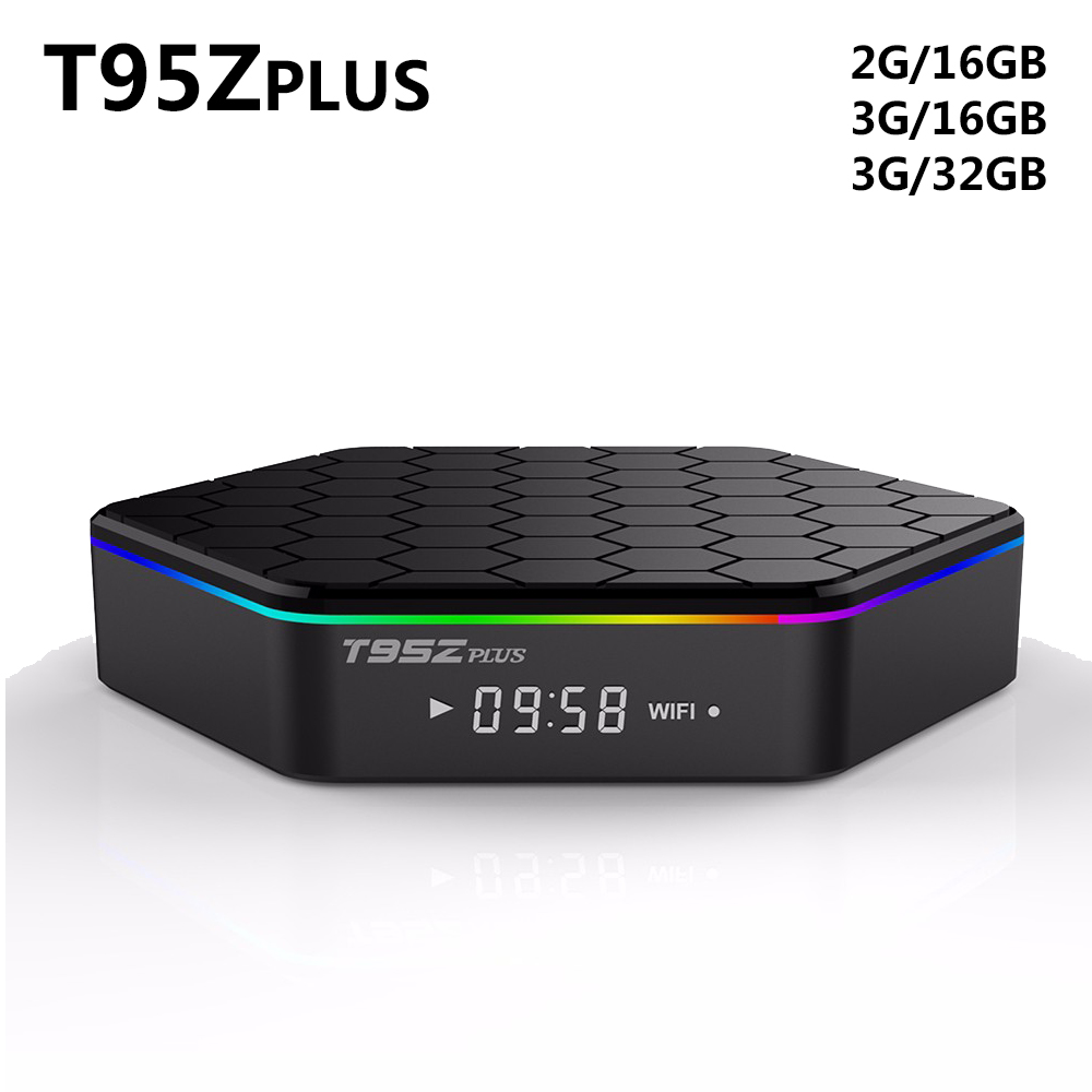 T95Z PLUS TV BOX S912 Octa-core cortex-A53 2G 16G Android 6.0 2.4G 5G Dual-band WiFi Bluetooth KODI Smart Media Player