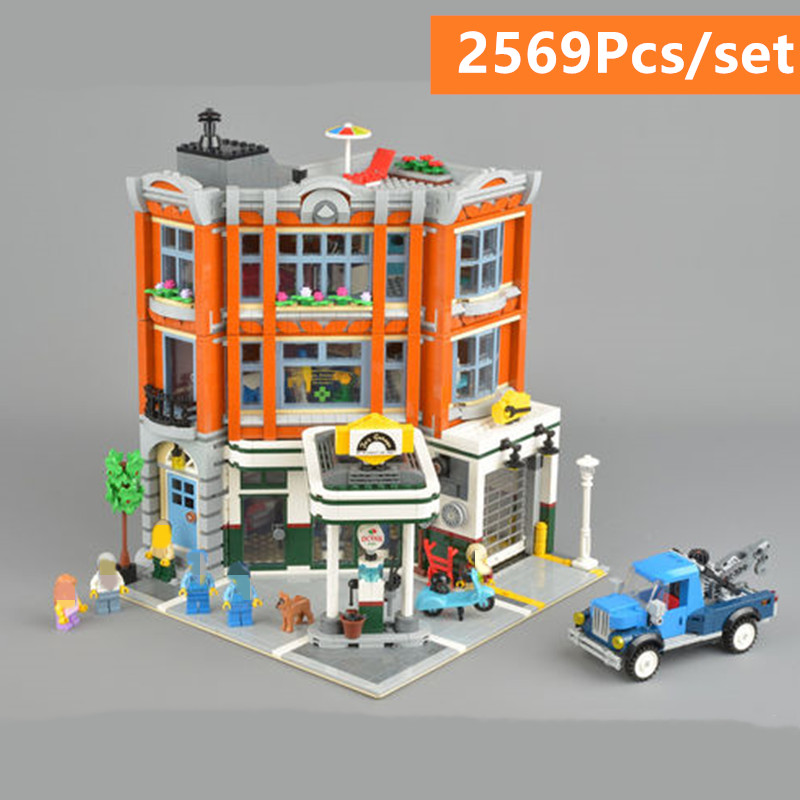 New 2019 City Corner Garage Set fit 10264 Assemblage Building Series Buidling Blocks Kids diy Toys