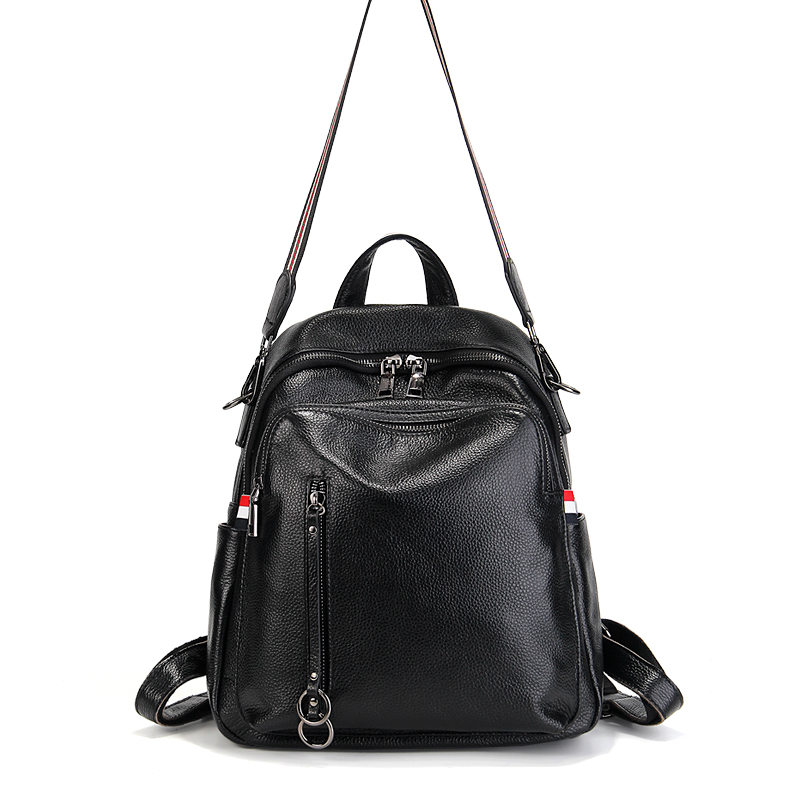 Brand New Fashion Women Backpacks Genuine Cow Leather Girls School Bags Travel Shoulder Bag Female High Quality Daily Daypacks brand bag backpack female genuine leather travel bag women shoulder daypacks hgih quality casual school bags for girl backpacks