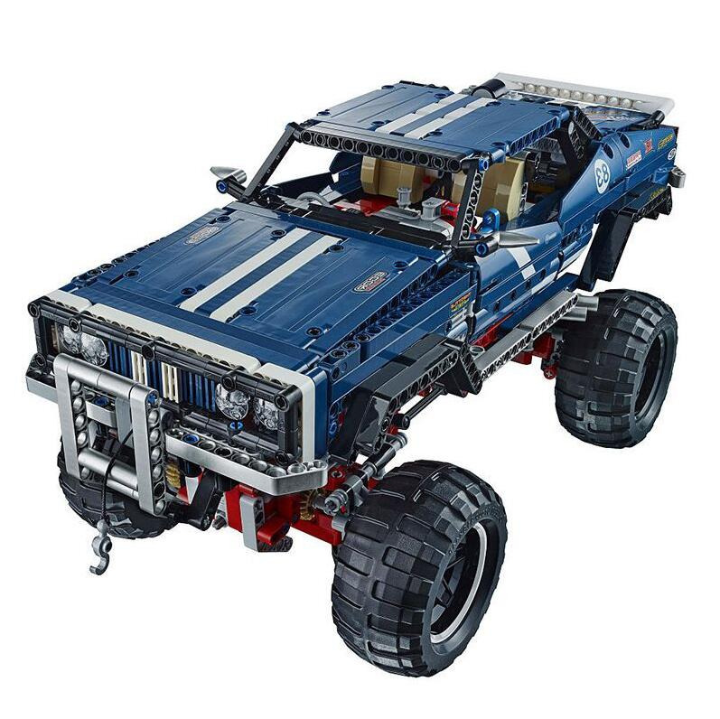 20011 Technic series Motor Power 4x4 Crawler Assembly Car Set Model Kit Building Blocks Bricks Compatible With legoing 41999 TOY 17