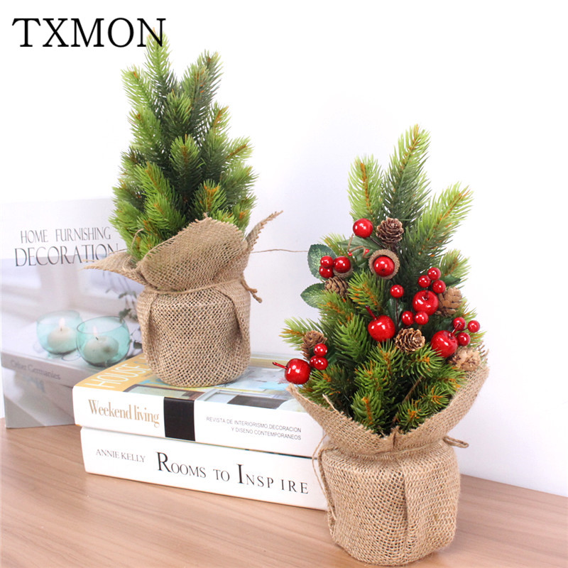 Potted Christmas Tree.Us 11 65 31 Off Simulation Pine Needle Potted Pine Green Plant Fir Bonsai Plant Potted Christmas Tree Holiday Home Garden Hotel Party Decoration In