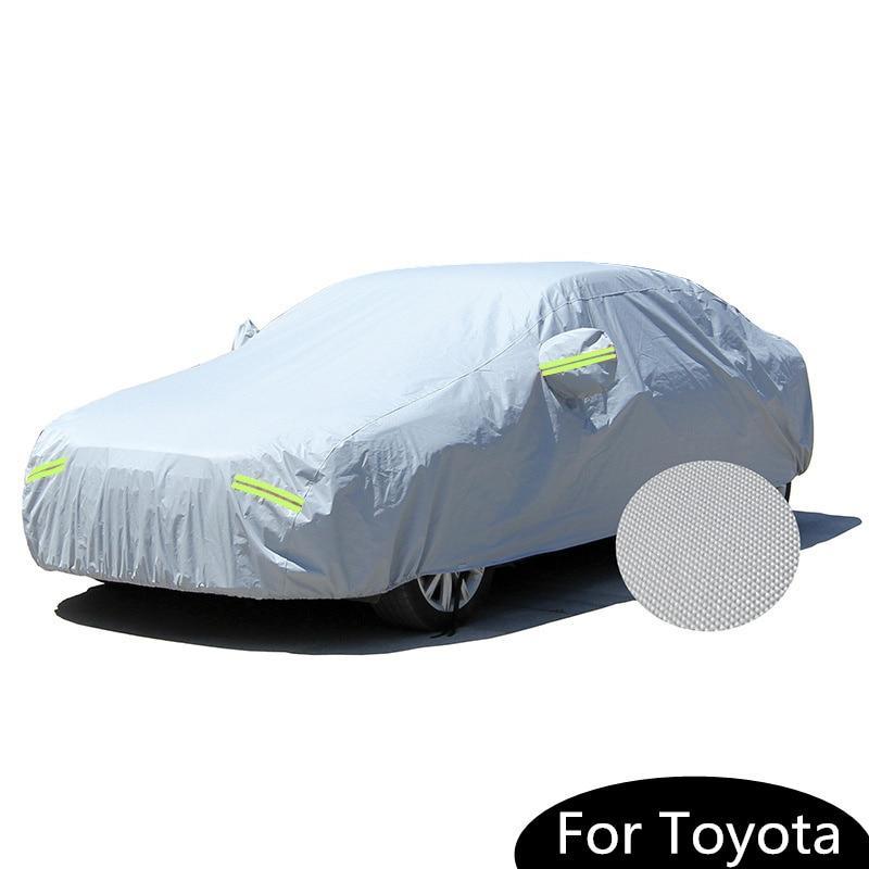 Hingebungsvoll Auto Styling Outdoor Wasserdicht Verdicken Baumwolle Auto Abdeckungen Für Toyota Canry Crown Reiz Avalon Schnee Staub Sonnenschutz Autocover