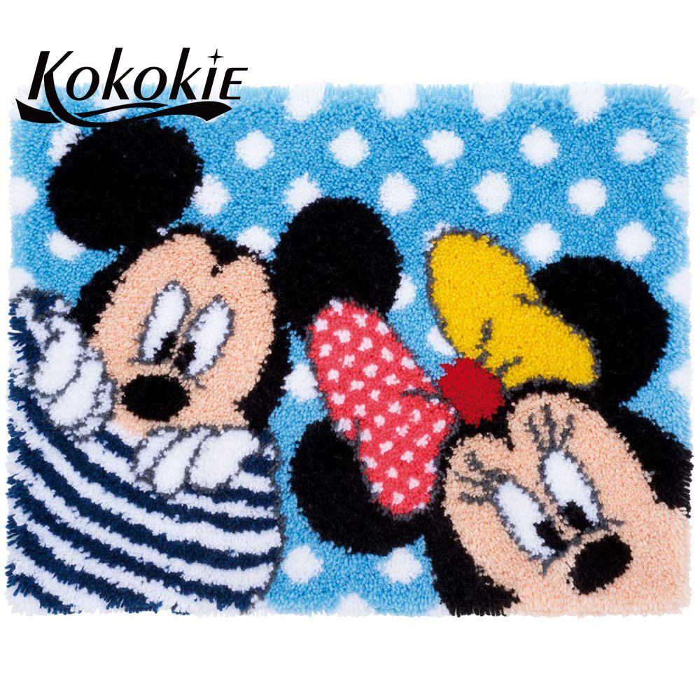 Diy מחט עבור שטיח רקמת מקציף floralkussen knooppakket תפס וו ערכות שטיח מודפס בד קריקטורה אביזרי מחצלת