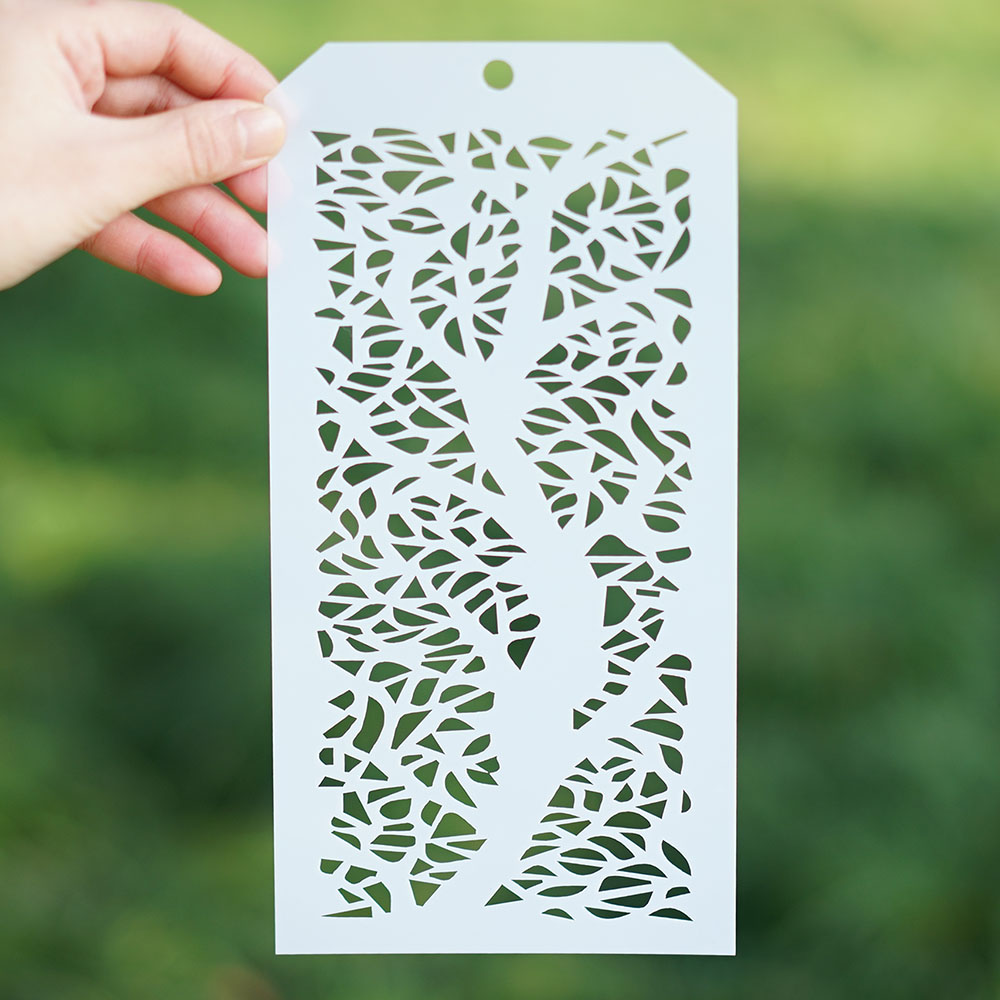 12*24 Cm Leaf Stencil For Scrapbooking Painting Album Paper Card Making Craft Decorative Embossing Template