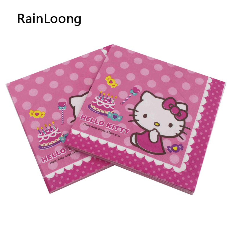 Rainloong Paper Napkin Hello Kitty Festive Party Cat
