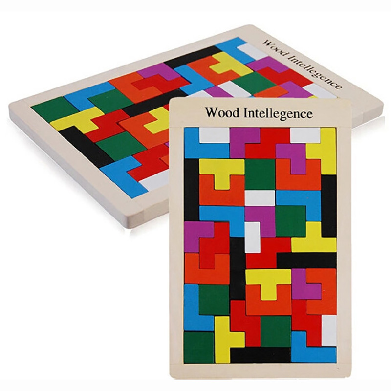 2017 Wooden Jenga Game Educational Toys Resin Figure Miniature scale Children Learning puzzle Toy Russia building Tetris MZ28 1000pcss wooden puzzles wool puzzle adult decompression toy jigsaw puzzle for children s educational toys developmental game