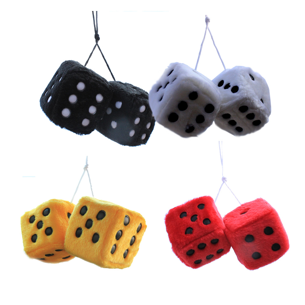 car pendant plush dice craps1