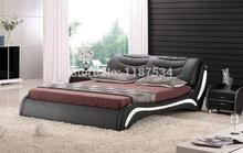C303 PU + ПВХ современная мягкая кровать кожа мягкая кровать Большие размеры кровать