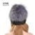 YCFUR Moda Mujeres Gorros Sombreros de Invierno Caliente 2016 Natural de Piel de Visón sombrero de piel de Zorro de Plata Superior Recorta Caps Mink Fur Invierno YH181