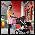 2016 New Fashion Animal Foot Printing Mummy Bag Multifunction Mother Shoulder Bag Messenger Large Capacity Mother Travelling Bag