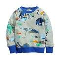 Envío gratis 6 unids/lote frijoles saltarines 2-7 t bebé del muchacho dinosaurio camiseta impresa 1320
