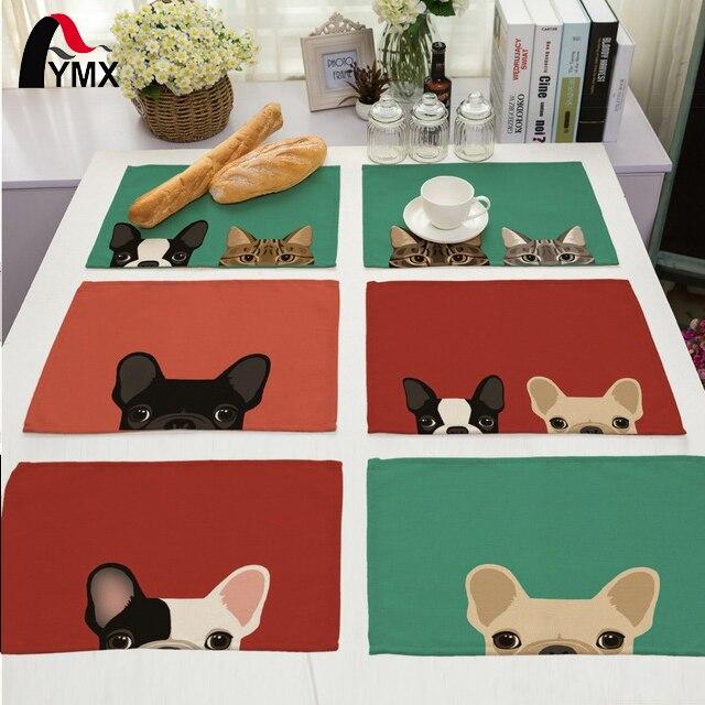 Милая собака Столовая салфетка для свадьбы поставки украшение партии дети мультфильм день рождения украшения салфетки на стол Серветт