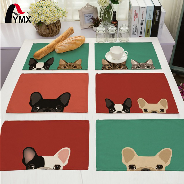 Cute Dog Table Napkin For Wedding Supplies Party Decoration Kids Cartoon Birthday Decoration Napkins On the Table Servette